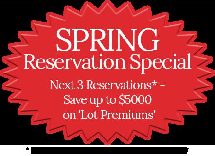 Spring Reservation Special